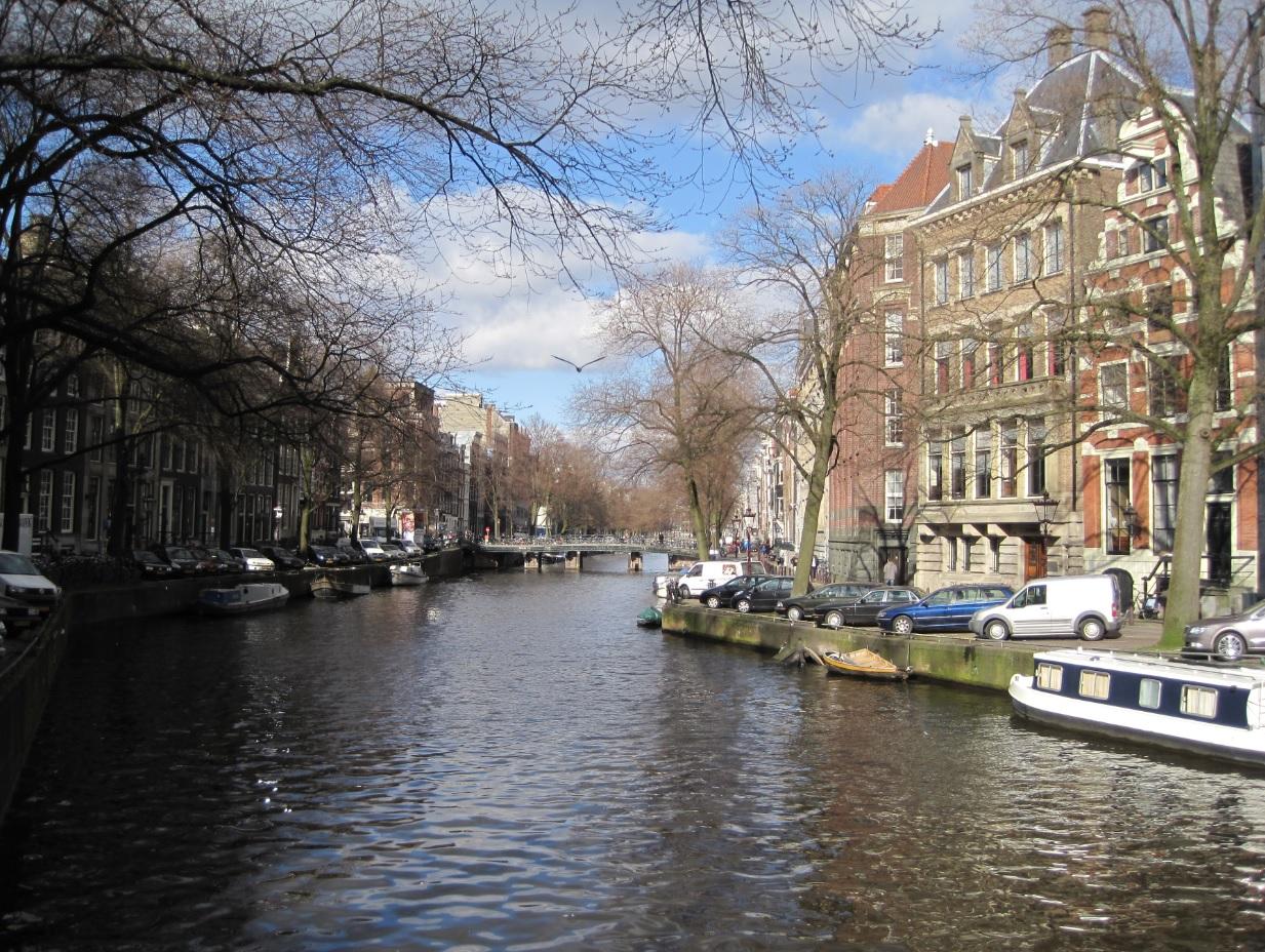 Grachten in Amsterdam in den Niederlanden