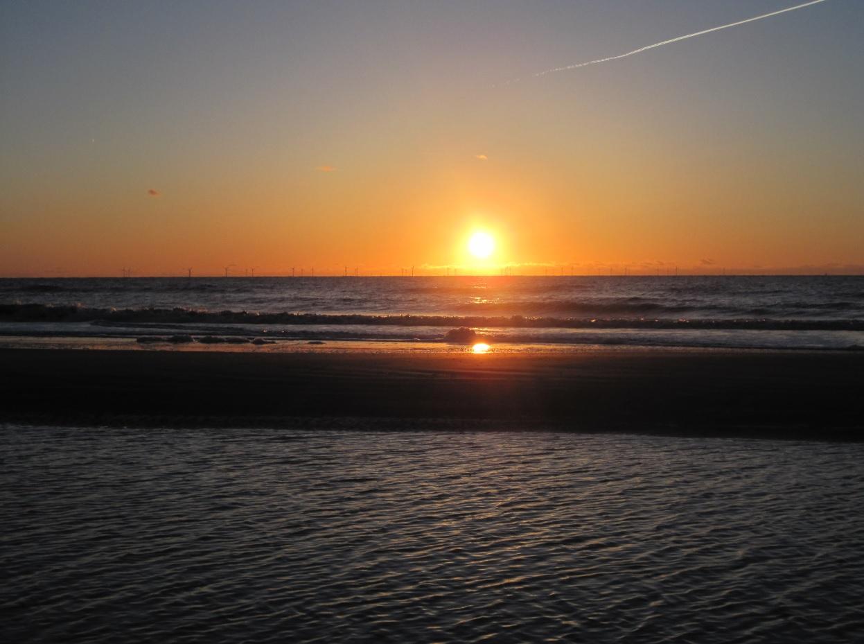 Sonnenuntergang in Egmond aan Zee