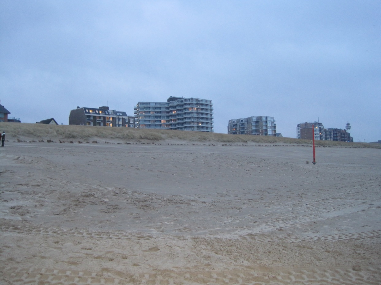 Strand in Egmond aan Zee am Abend