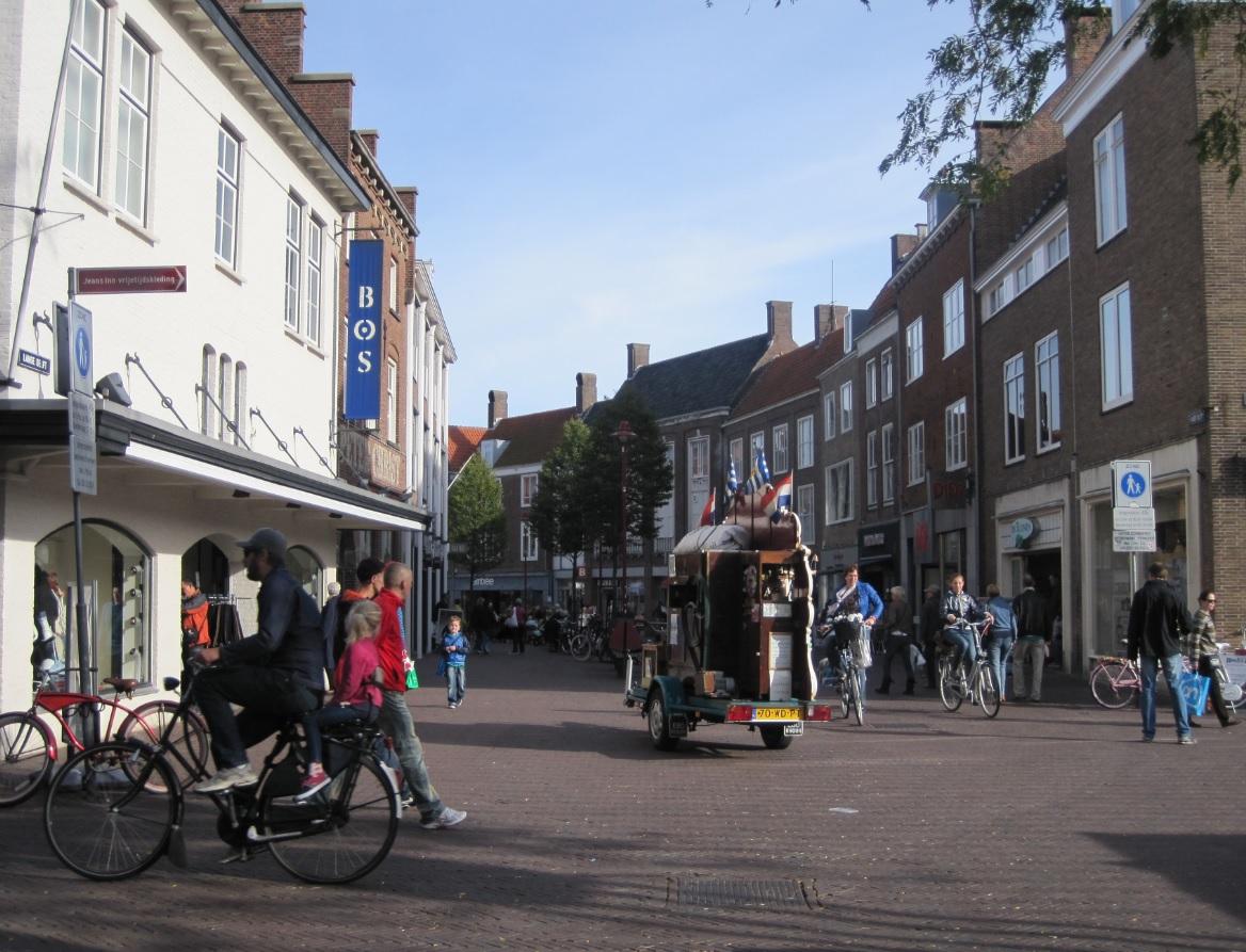 Zentrum einer Kleinstadt in Holland