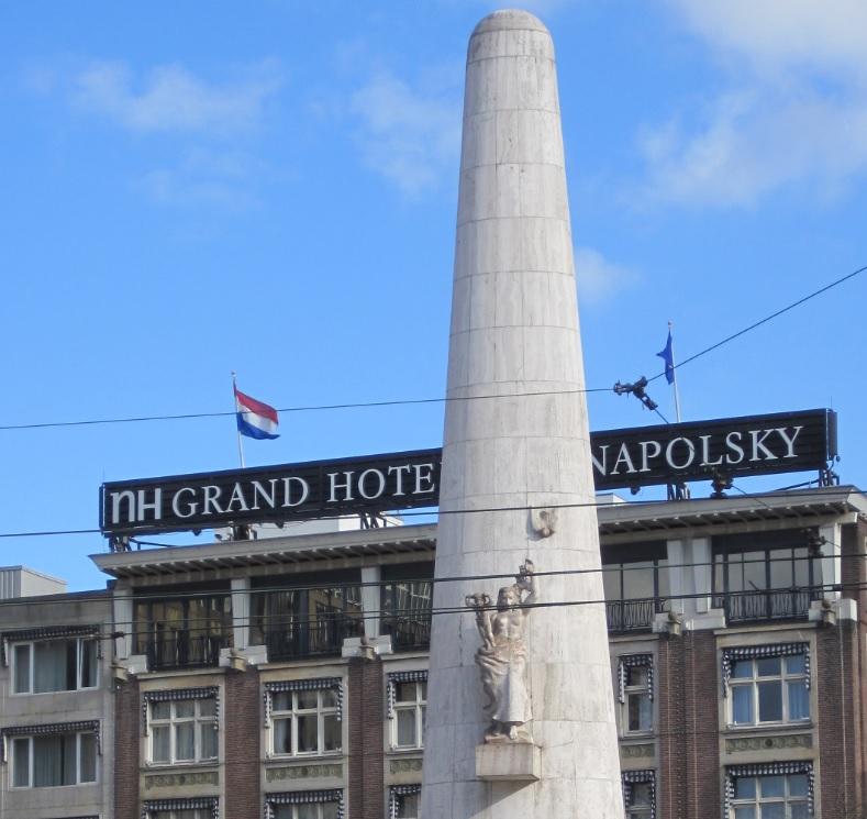 Flagge der Niederlande in Amsterdam
