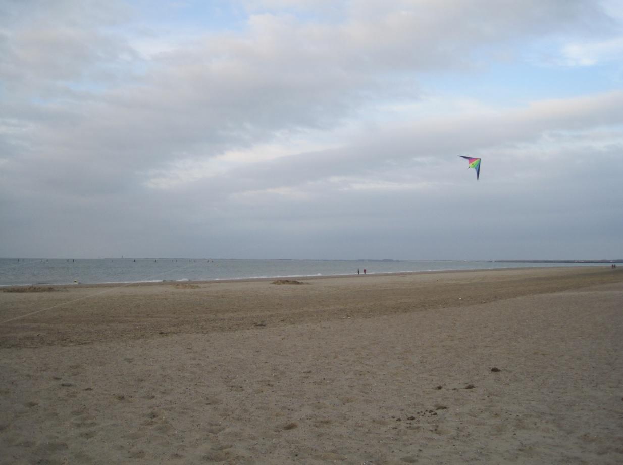 Strand von Renesse im Herbst