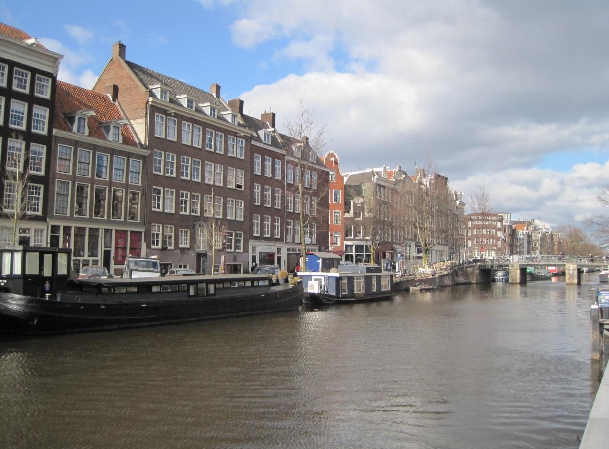 Grachten vor dem Anne Frank Haus
