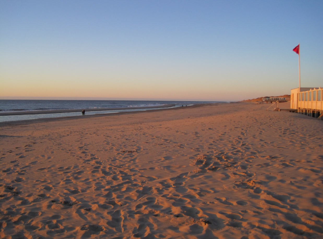 Sandstrand in Holland
