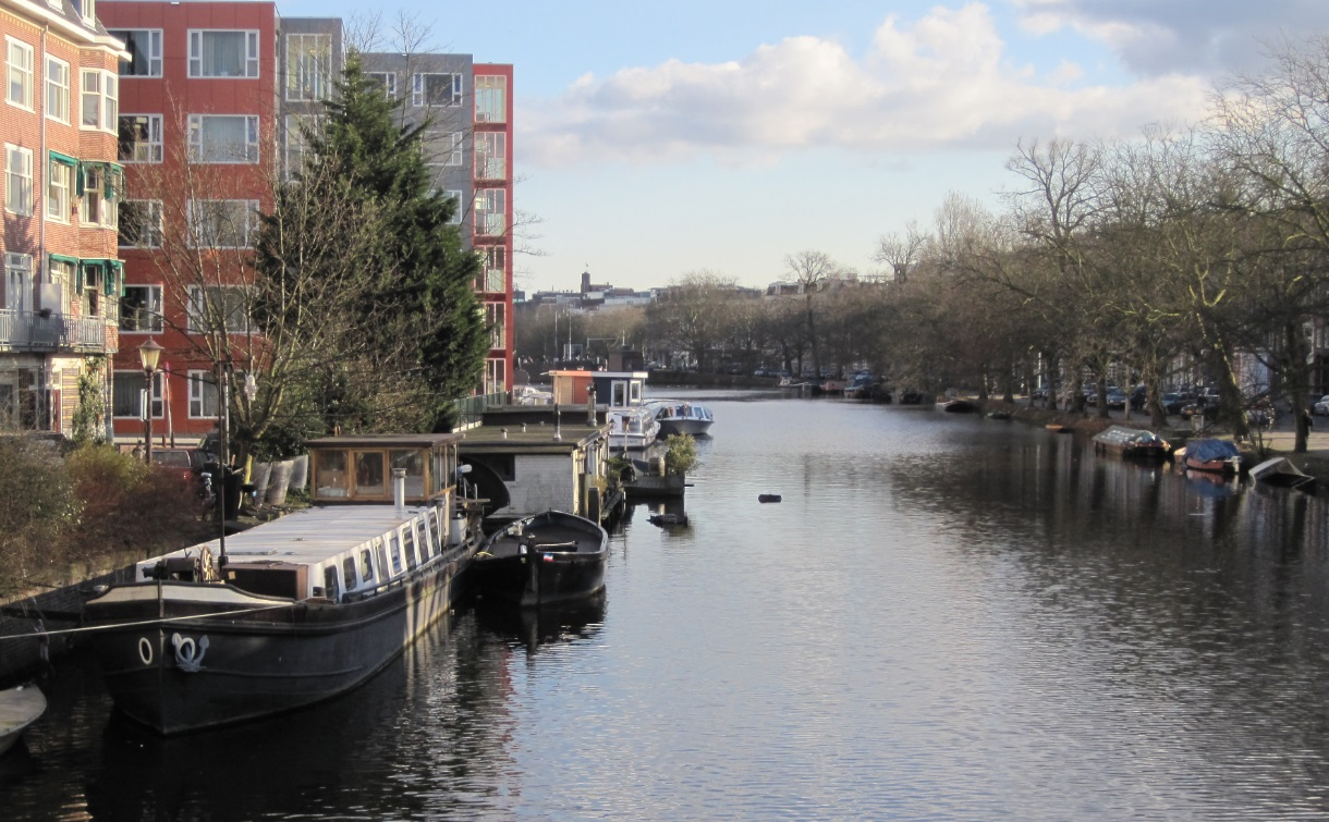 Grachten im Herzen von Amsterdam