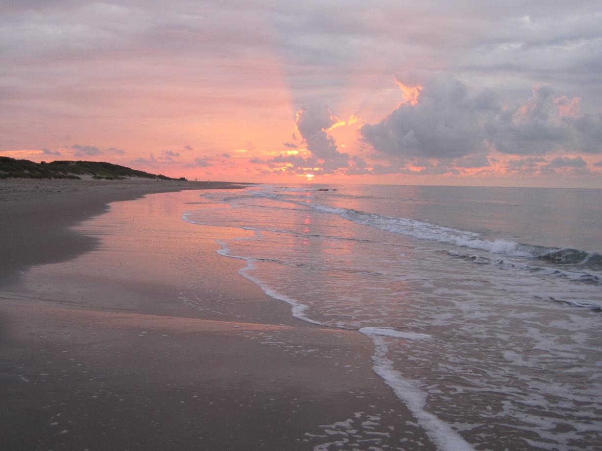 Sonnenuntergang in Renesse in Zeeland