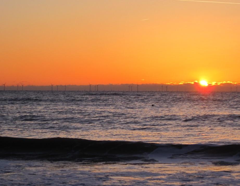 Sonneuntergang in Egmond aan Zee
