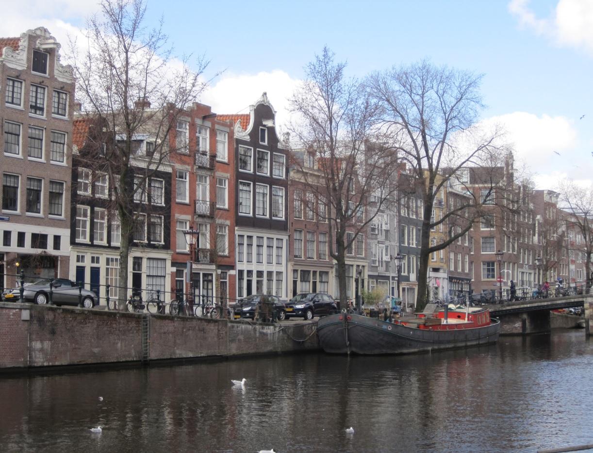 Hausboot in Amsterdam