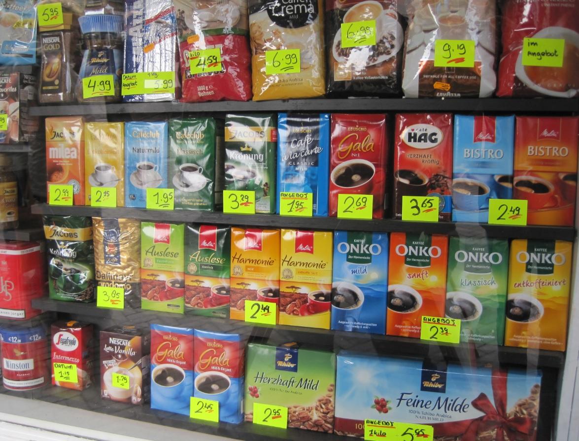 Kaffee Shopping Preise in den Niederlanden