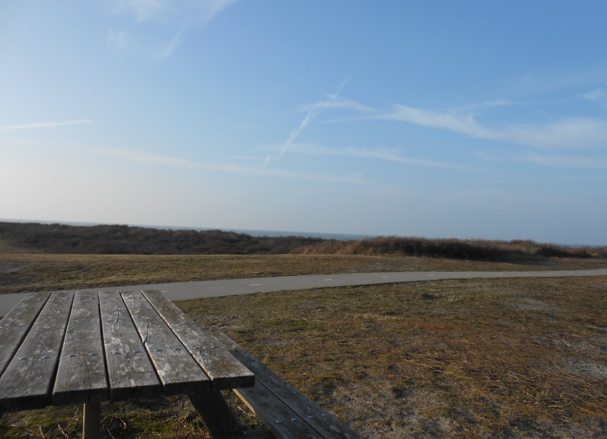 Radweg in Ouddorp an der Küste