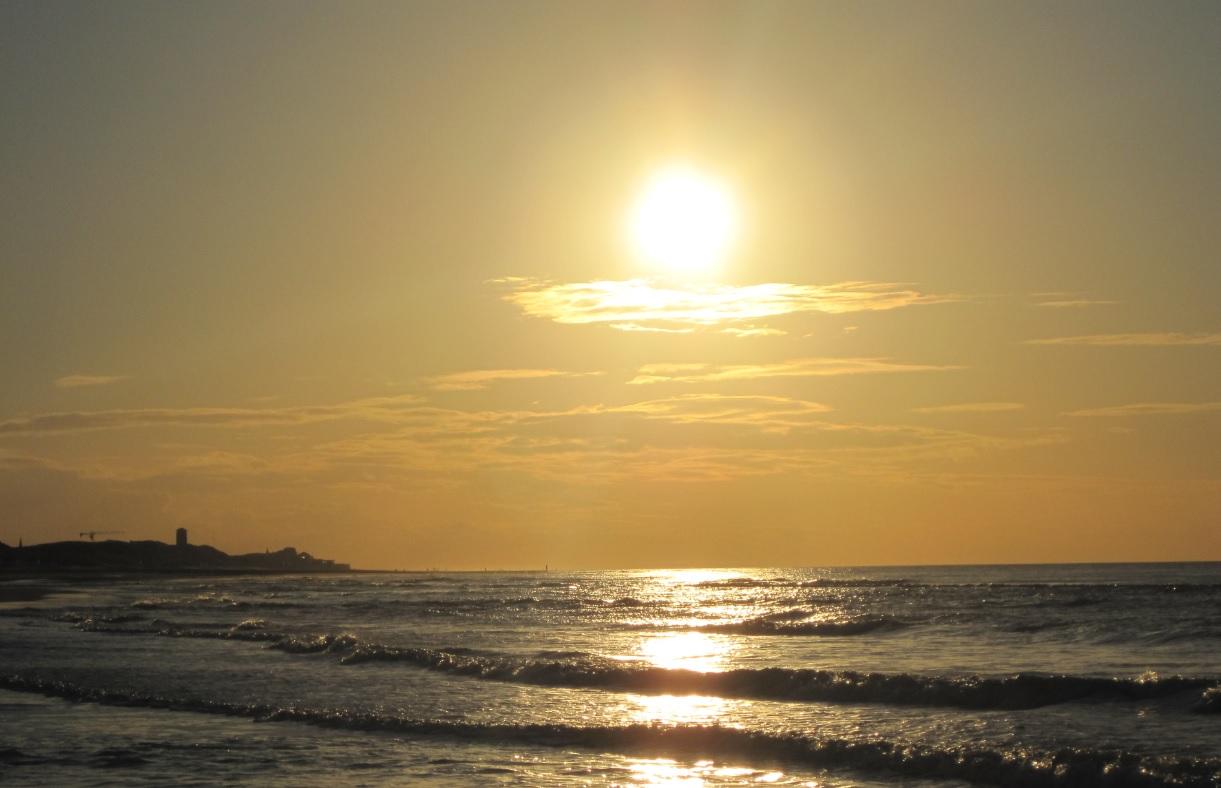 Sonnenschein an der holländischen Nordsee