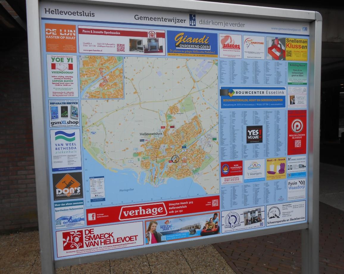Stadtkarte von Hellevoetsluis