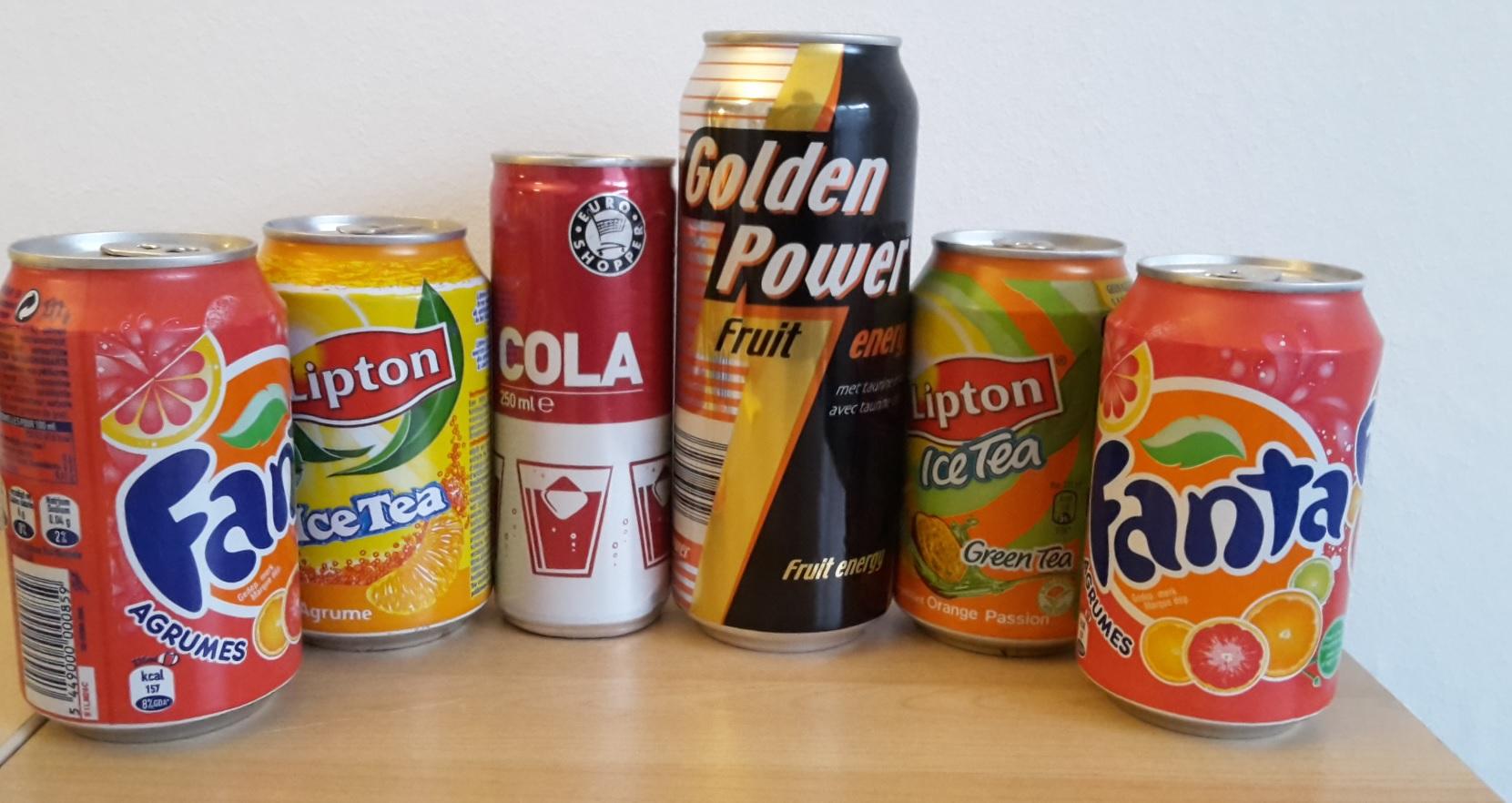 Getränkedosen wie Energydrinks ohne Pfand