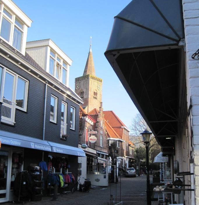 Den Burg auf Texel mit Supermärkten