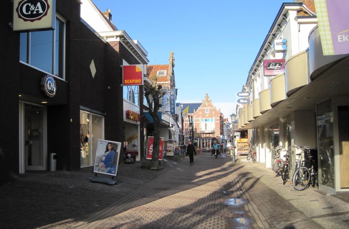 Fußgängerzone auf Texel in Den Burg